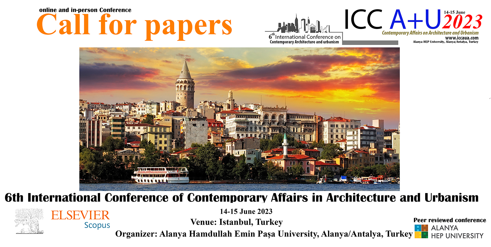 3rd International Conference of Contemporary Affairs on Architecture and Urbanism 2020 ICCAUA ALANYA HEP UNIVERSITY